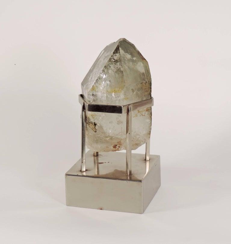 Late 20th Century Unique Carla Venosta, 1970s Rock Crystal Table Sculpture For Sale