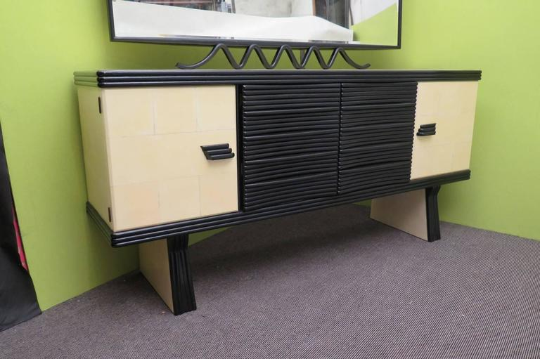 Mid-Century Modern Pier Luigi Colli 1950 Black and White Itali Sideboards  For Sale