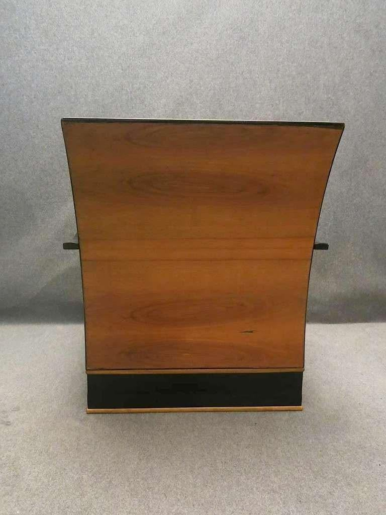 Pair of Art Deco Walnut Wood and Velvet Fabric Italian Armchairs, 1940 For Sale 2