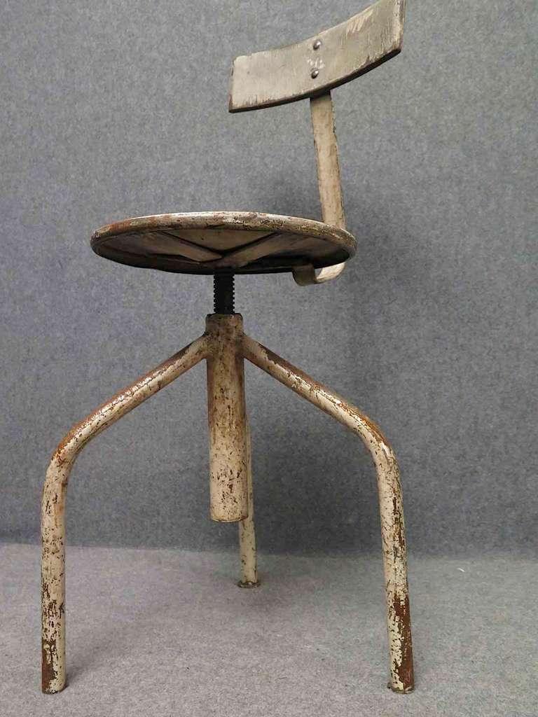 Groovy Midcentury Round Metal Italian Industrial Stool 1960 Inzonedesignstudio Interior Chair Design Inzonedesignstudiocom