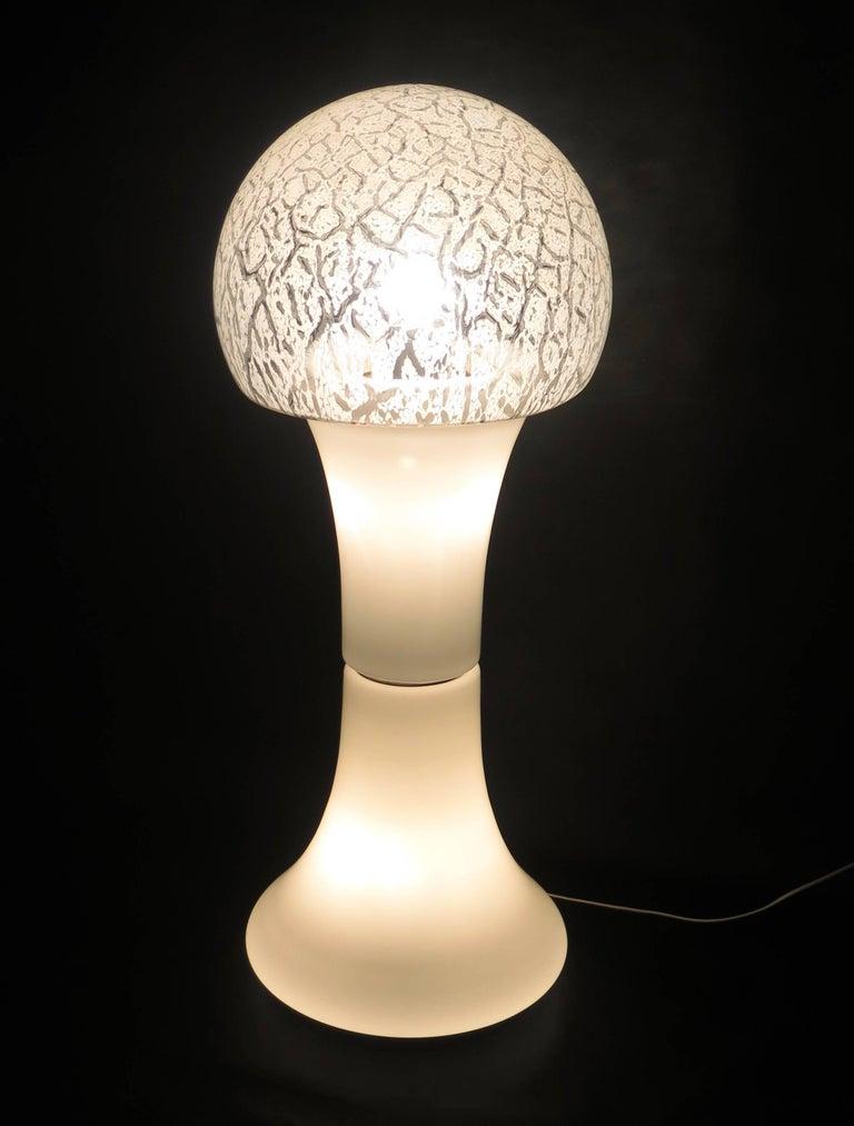 Nason for Mazzega Murano White Color Italian Floor Lamp, 1960 For Sale 9