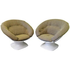 Pair of Maison Raphael Plastic French Armchairs, 1975