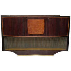 Dassi Vittorio Walnut Italian Midcentury Cabinet Buffet, 1940