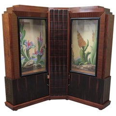 Marcello Piacentini Italian Art Deco Corner Cupboards, 1940