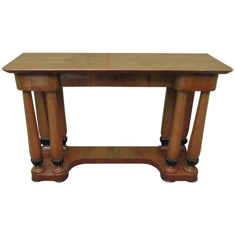 Biedermeier Cherrywood Austrian Console Table 1820 For