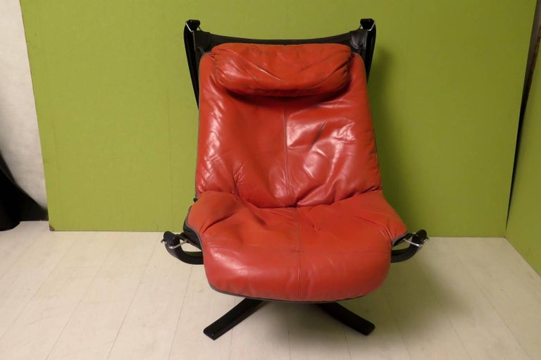 Leather Viking by Frau Norway Armchairs, 1970 For Sale