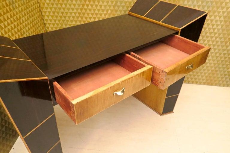 Mid-20th Century Midcentury Ebony and Maple Italian Desks, 1950 For Sale
