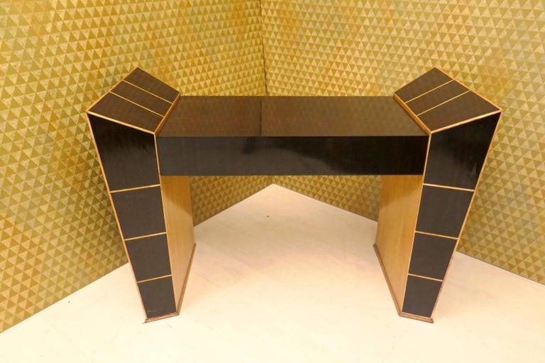 Midcentury Ebony and Maple Italian Desks, 1950 For Sale 4
