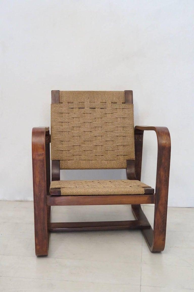Mid-Century Modern Giuseppe Pagano Pogatschnig e Gino Maggioni 1939-1941 Italian Armchairs For Sale