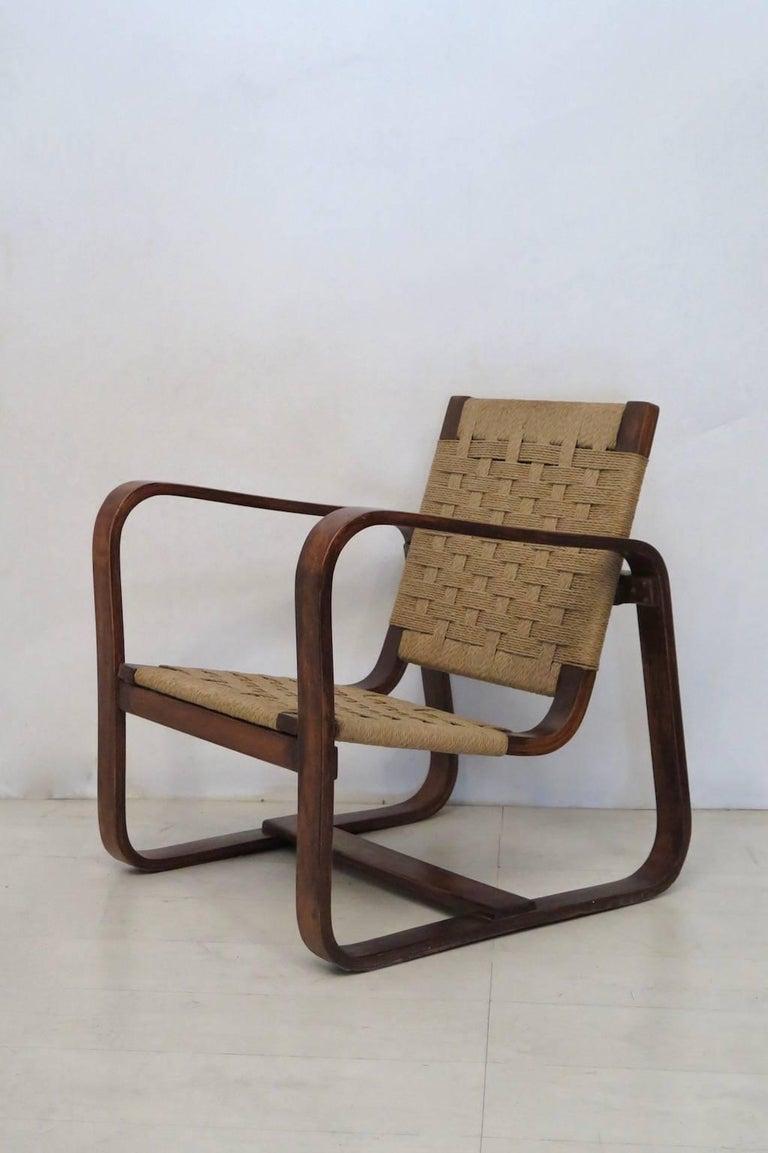 Giuseppe Pagano Pogatschnig e Gino Maggioni 1939-1941 Italian Armchairs In Excellent Condition For Sale In Rome, IT
