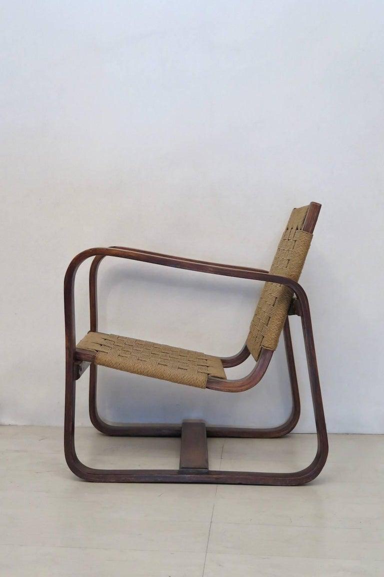 Mid-20th Century Giuseppe Pagano Pogatschnig e Gino Maggioni 1939-1941 Italian Armchairs For Sale