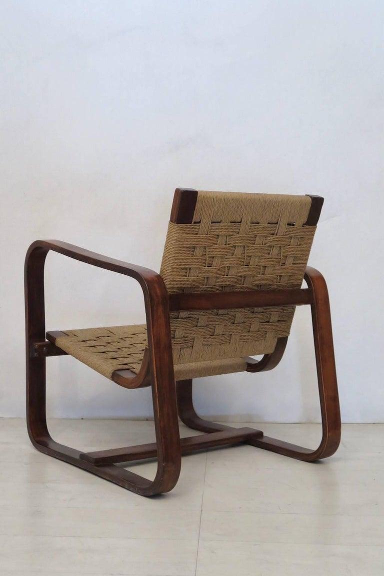 Rope Giuseppe Pagano Pogatschnig e Gino Maggioni 1939-1941 Italian Armchairs For Sale