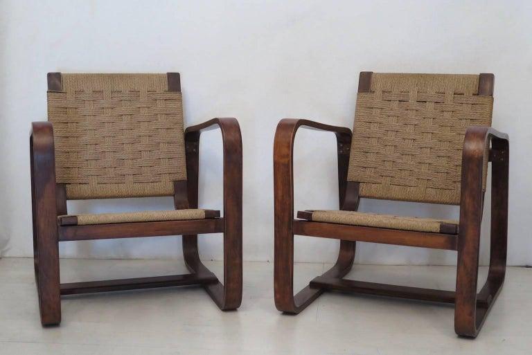 Giuseppe Pagano Pogatschnig e Gino Maggioni 1939-1941 Italian Armchairs For Sale 2