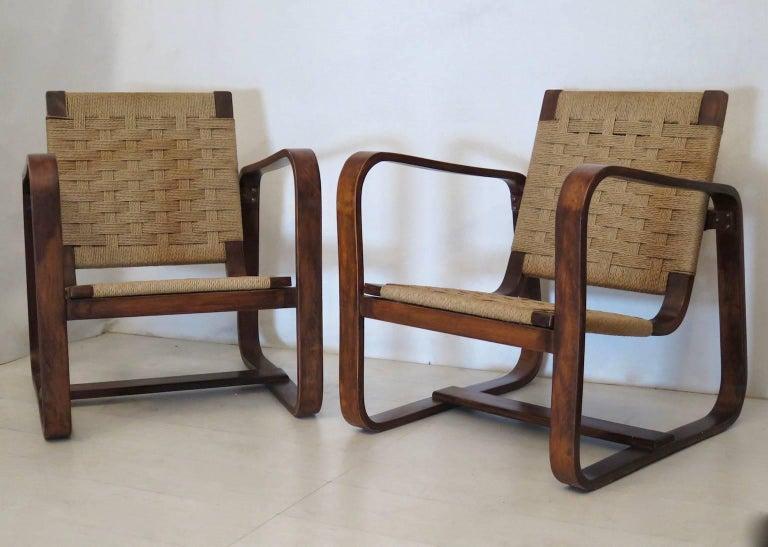 Giuseppe Pagano Pogatschnig e Gino Maggioni 1939-1941 Italian Armchairs For Sale 4