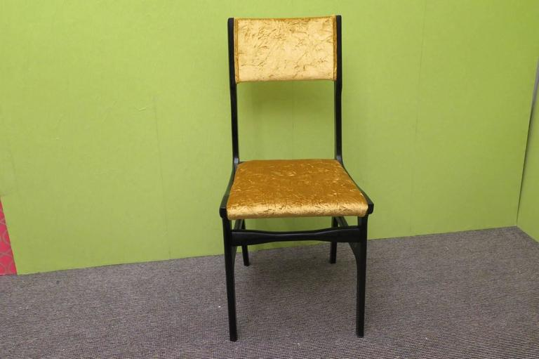 Italian Set of Six Chairs by Carlo de Carli For Sale
