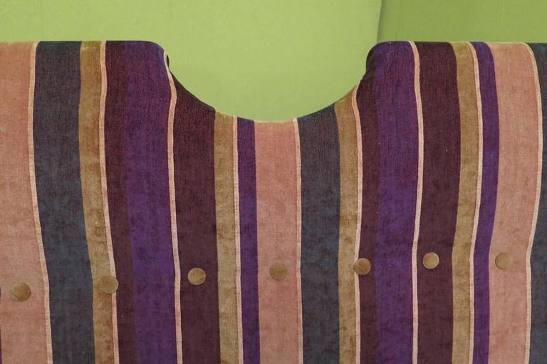 1950 Velvet Bicolored Italian Mid-Century Sofa For Sale 4