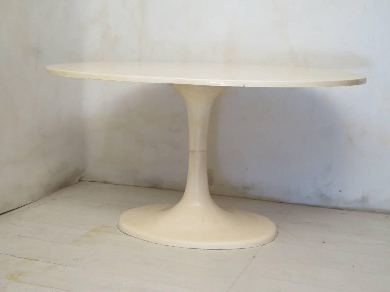 Mid-Century Modern Tulip Oval Table, 1970 For Sale