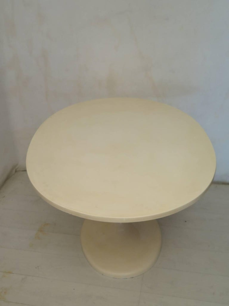 Epoxy Resin Tulip Oval Table, 1970 For Sale