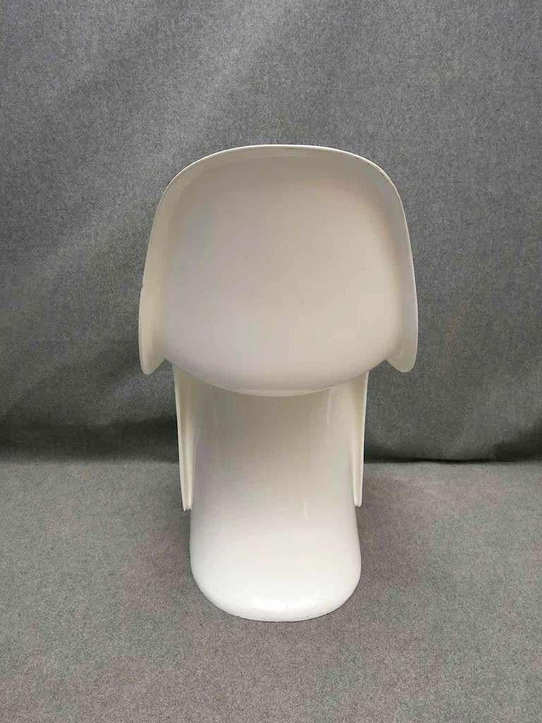 Polystyrene Verner Panton 1960 Four White Chairs For Sale