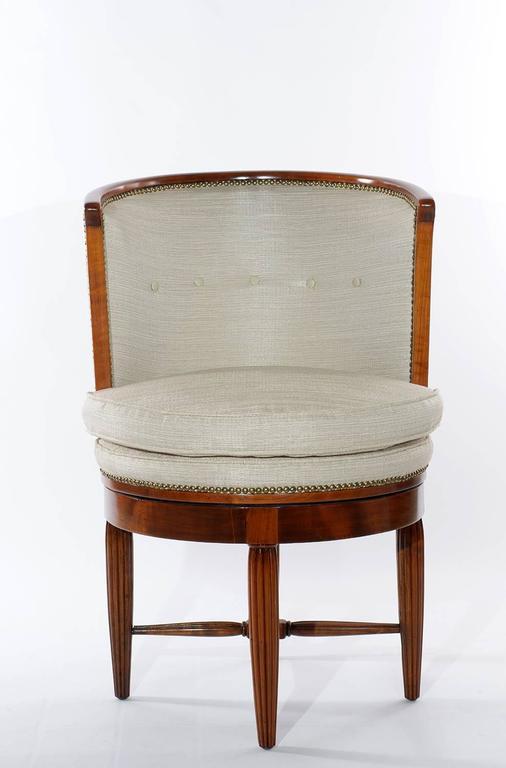 French Art Deco Desk Swivel Chair 1925 At 1stdibs