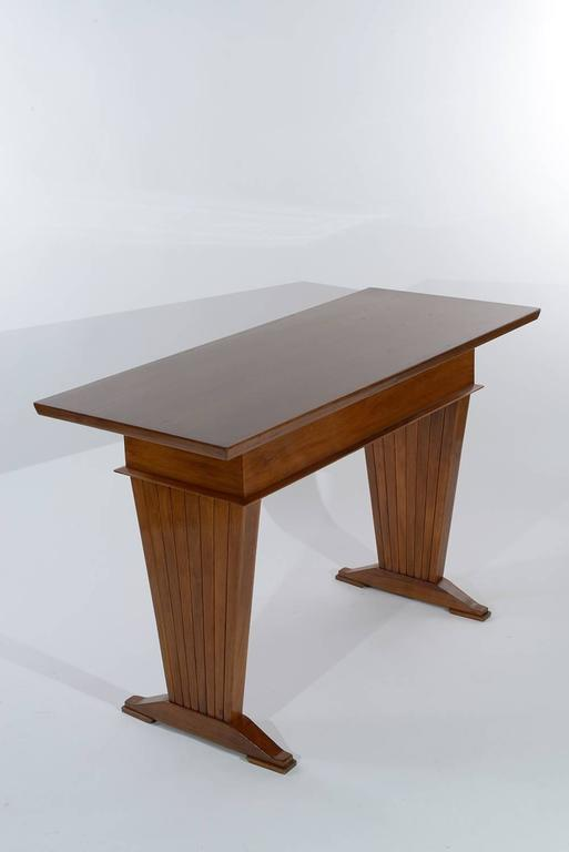 Mid-Century Modern Italian Console Table or Writing Desk by Arch. Giovanni Michelucci For Sale
