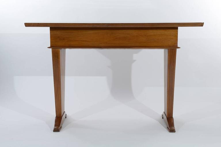 Mid-20th Century Italian Console Table or Writing Desk by Arch. Giovanni Michelucci For Sale