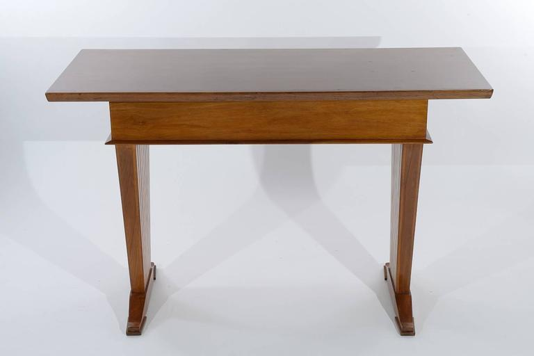 Italian Console Table or Writing Desk by Arch. Giovanni Michelucci For Sale 1