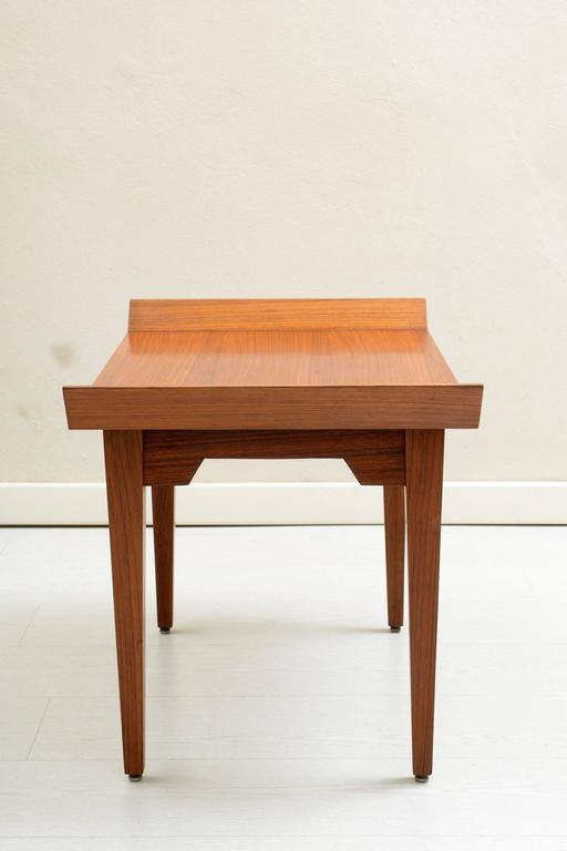 Italian Teak Wood Pair of 1960s Side Table or Stools 4