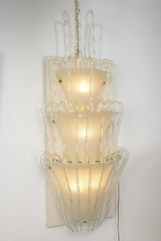 Four Big Murano Glass Wall Lights by Barovier, 1930s 2