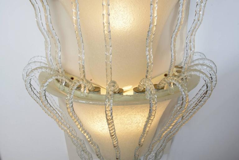 Four Big Murano Glass Wall Lights by Barovier, 1930s For Sale 2