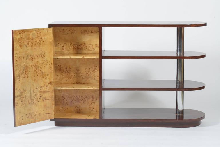 Art Deco Italian Inlaid Center Book Case Table Bar Signed by Regia Scuola d'Arte 6