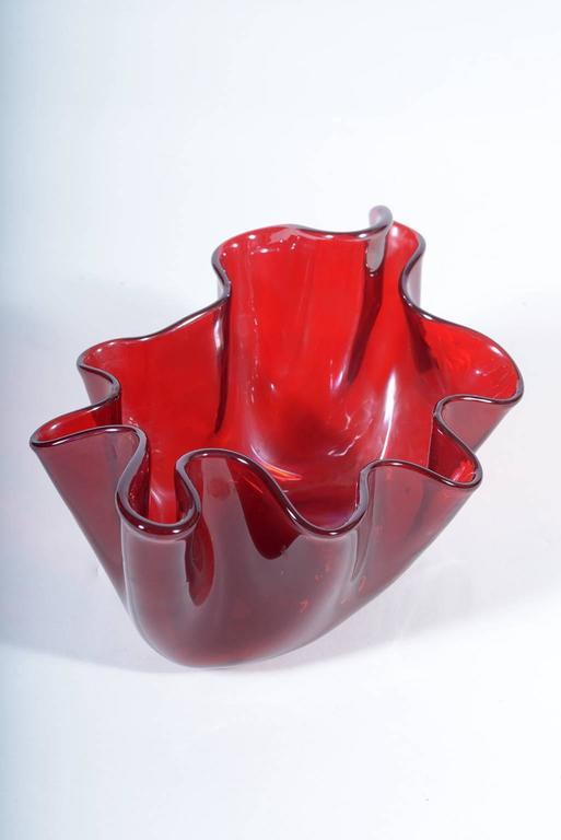 Mid-Century Modern Italian Mid-Century Murano Glass 'Fazzoletto' by Fulvio Bianconi for Venini For Sale