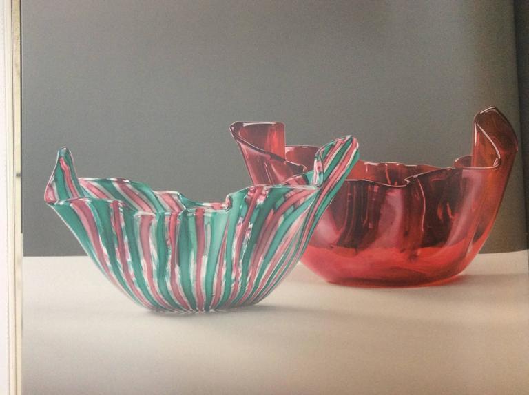 Italian Mid-Century Murano Glass 'Fazzoletto' by Fulvio Bianconi for Venini For Sale 2