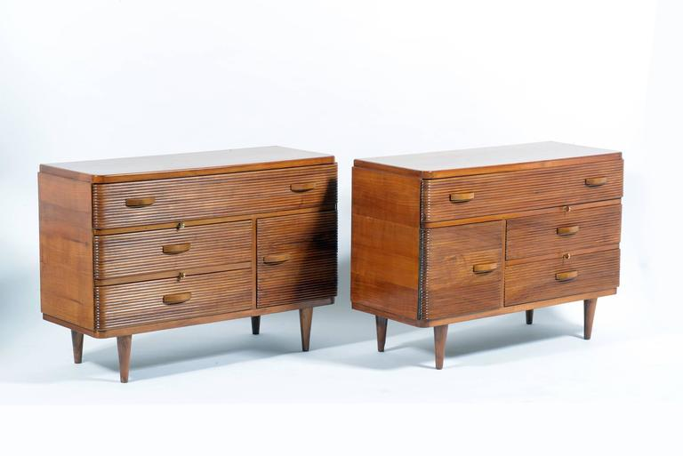 Pair of Mid-Century Italian Cabinets or Chest or Big Nightstand 2