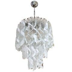 Mazzega  Midcentury Italian Murano Glass Chandelier , 1960s