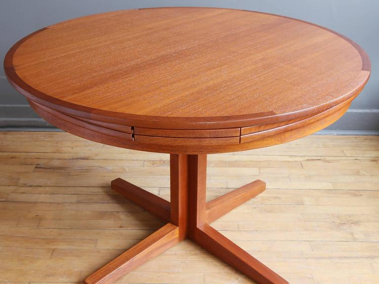 Expandable Danish Teak Quot Lotus Quot Dining Table By Dyrlund At