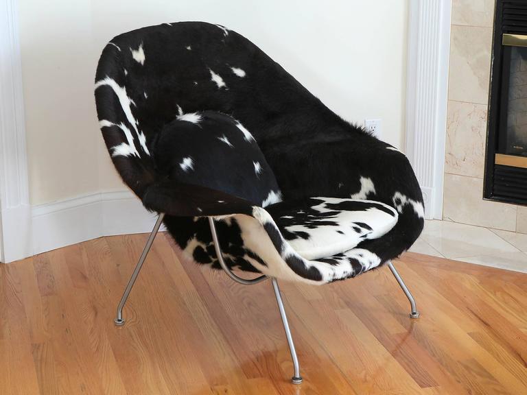 Mid Century Modern Pony Hide Womb Chair By Eero Saarinen For Knoll For Sale