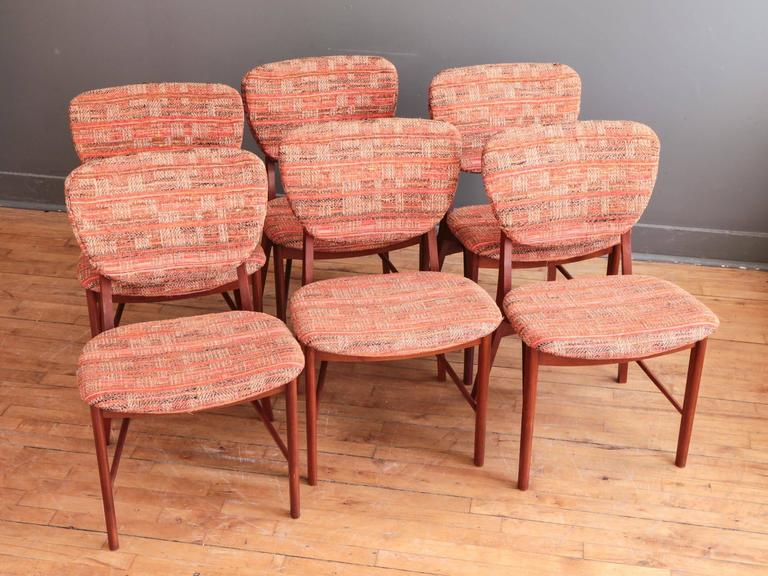 Set of Six Teak Dining Chairs by Niels Vodder 2