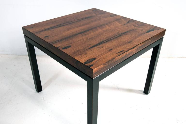 Rosewood And Black Lacquer Side Table By Milo Baughman For Thayer Coggin 3