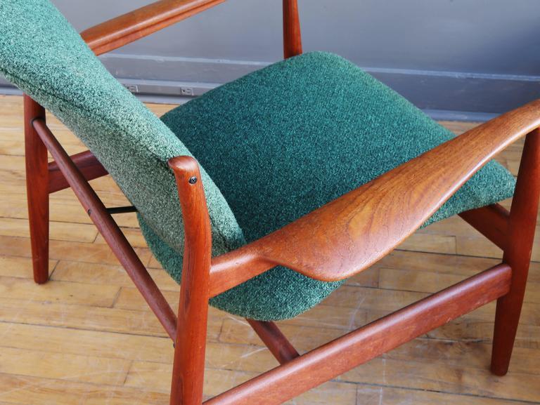 Danish Finn Juhl Model FD 136 Teak Lounge Chair For Sale