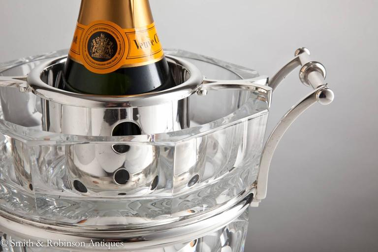 Stunning Baccarat Champagne Cooler, France, circa 1950-1955 In Excellent Condition For Sale In London, GB