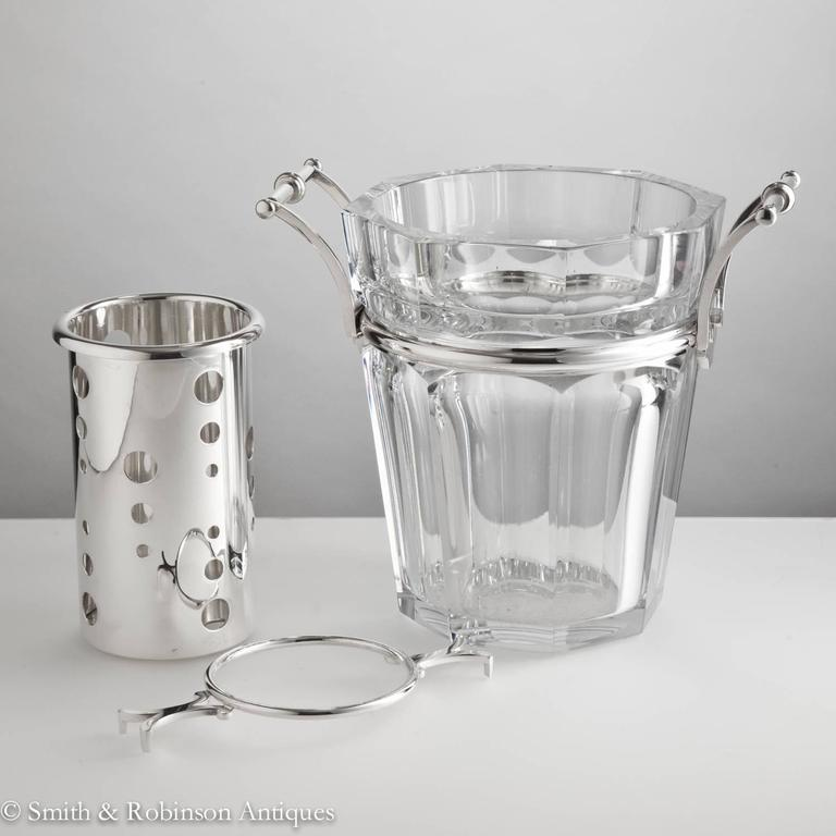 French Stunning Baccarat Champagne Cooler, France, circa 1950-1955 For Sale