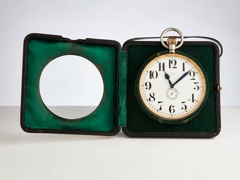 Italian Monumental Silver Goliath Clock, circa 1910-1915 For Sale