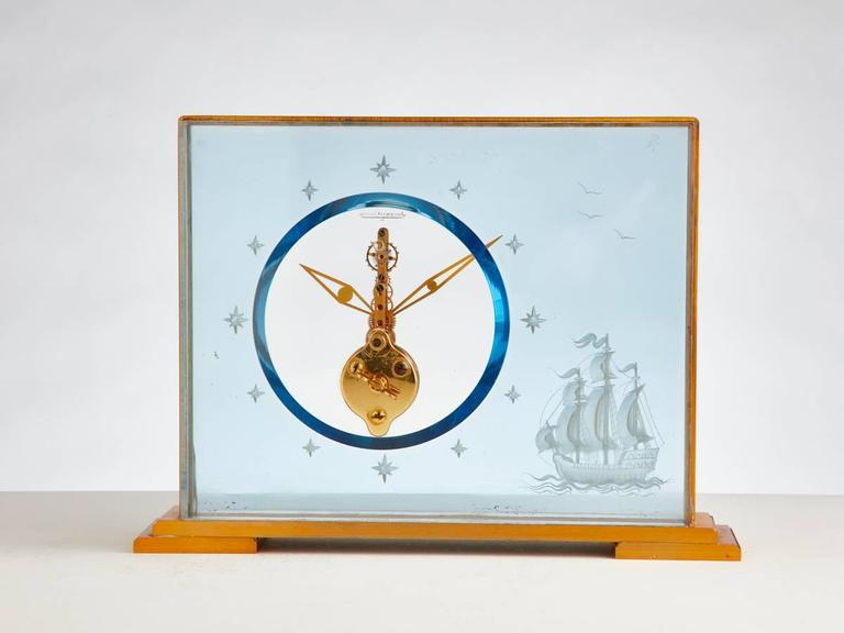 Vintage Jaeger-Le Coultre Marine Themed Clock, circa 1960 5