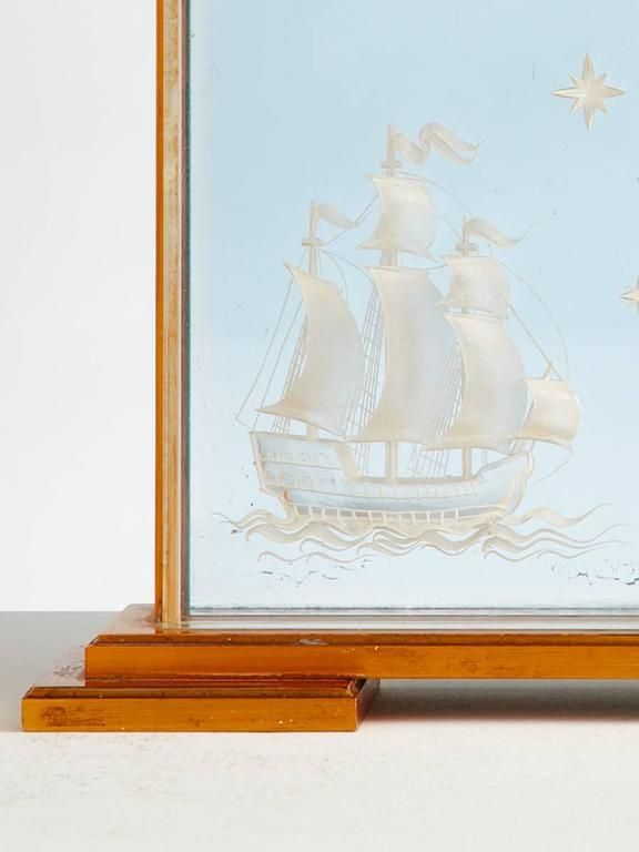 Vintage Jaeger-Le Coultre Marine Themed Clock, circa 1960 4