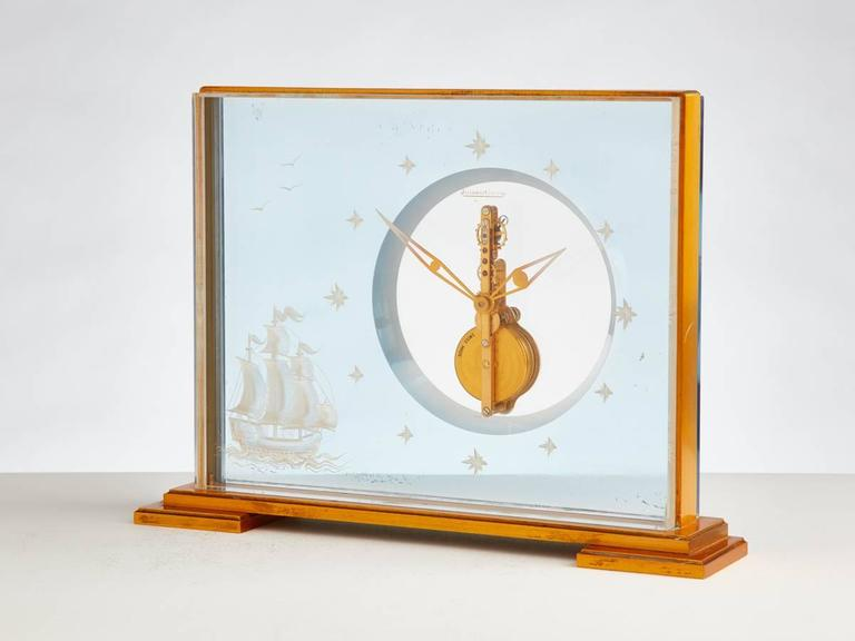 Vintage Jaeger-Le Coultre Marine Themed Clock, circa 1960 2