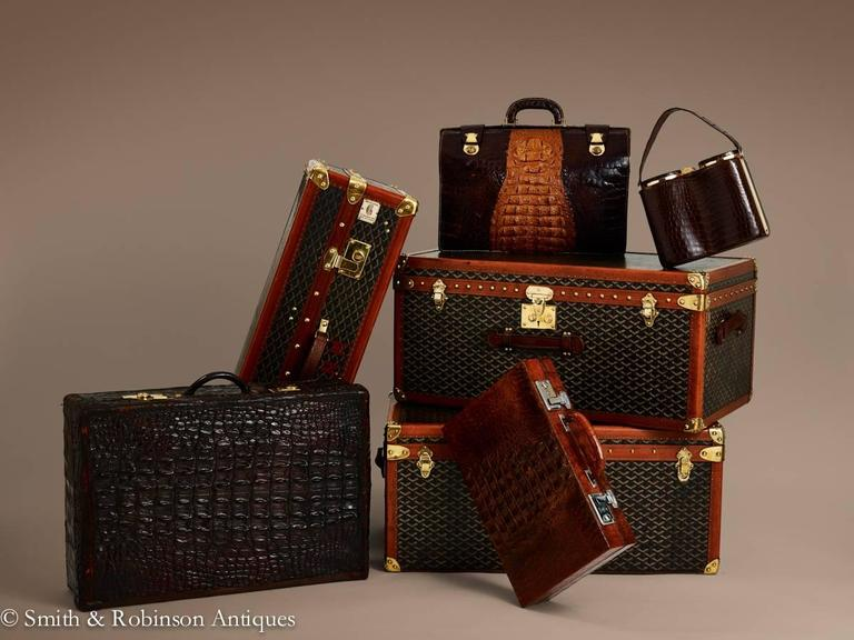 Wonderful Vintage Collection Of Goyard Luggage French Circa - Invoice template word 2010 goyard online store