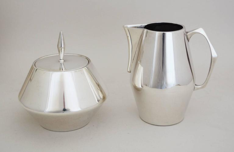 Diamond Sterling Coffee And Tea Service By John Prip At