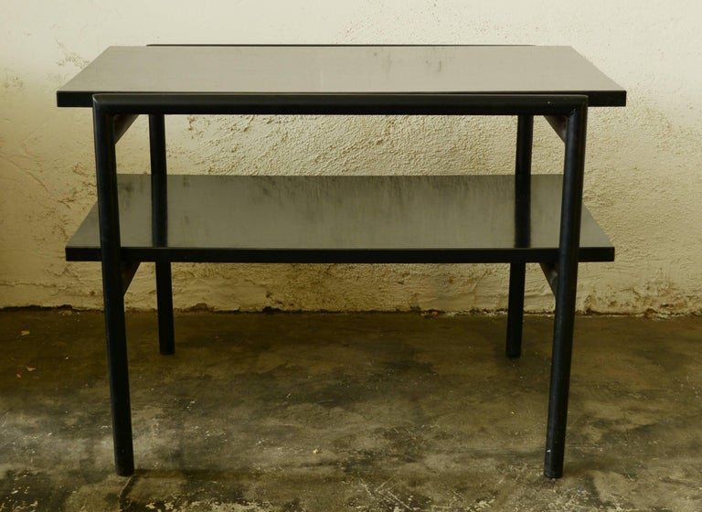 Don Knorr Iron And Laminate Side Table For Vista For Sale