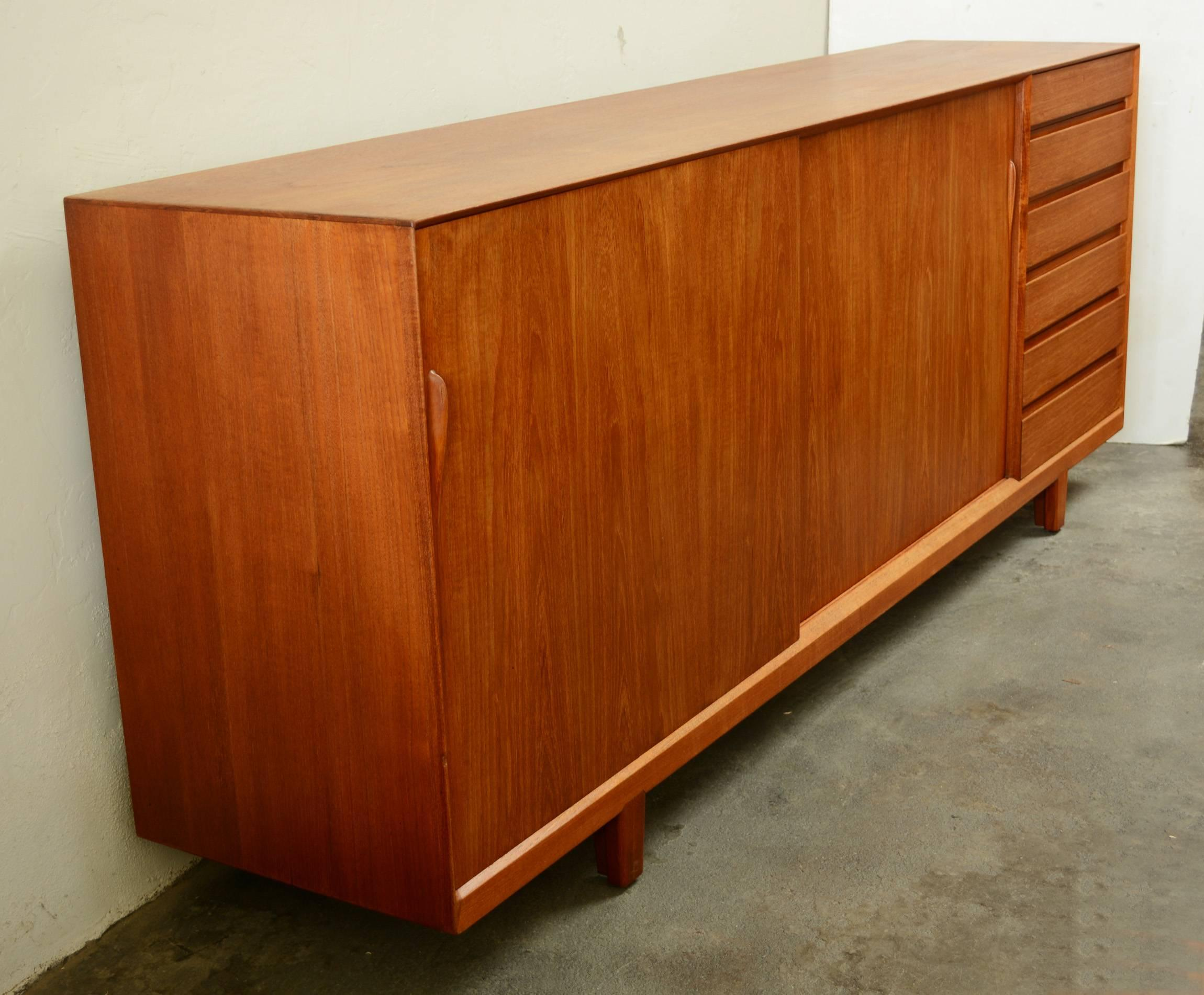 Danish Credenza For Sale : Large danish teak credenza for sale at stdibs